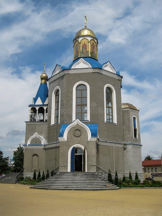 Temple en l'honneur de la mère du ` de Bush brûlant de ` de Dieu dans la ville de Dyadkovo, région de Bryansk de la Russie images libres de droits