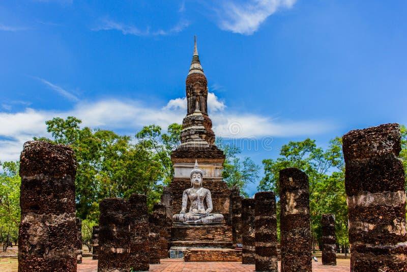 Temple en parc historique Thaïlande de Sukhothai photos stock