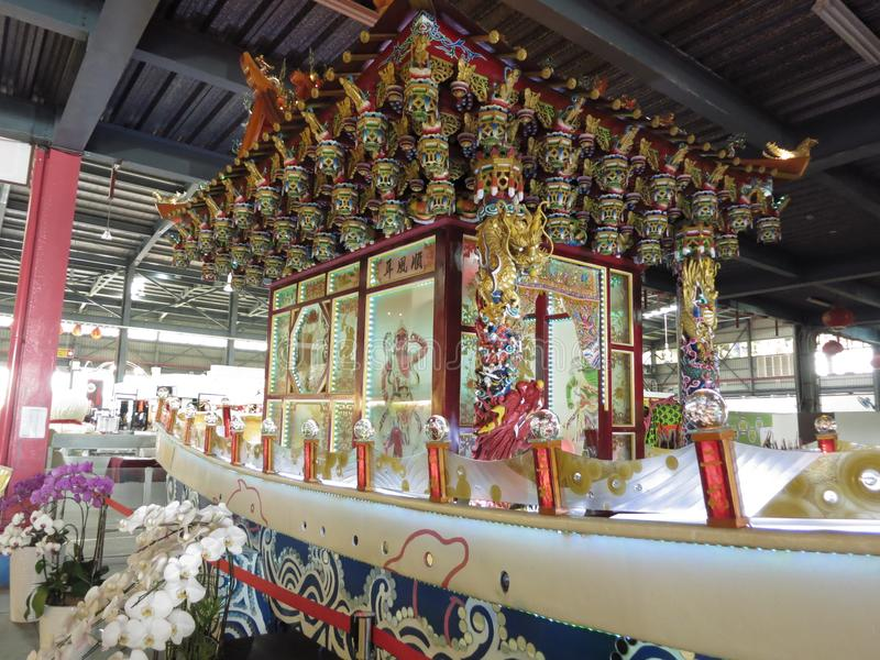 Temple en verre de Taïwan Lukang photo stock