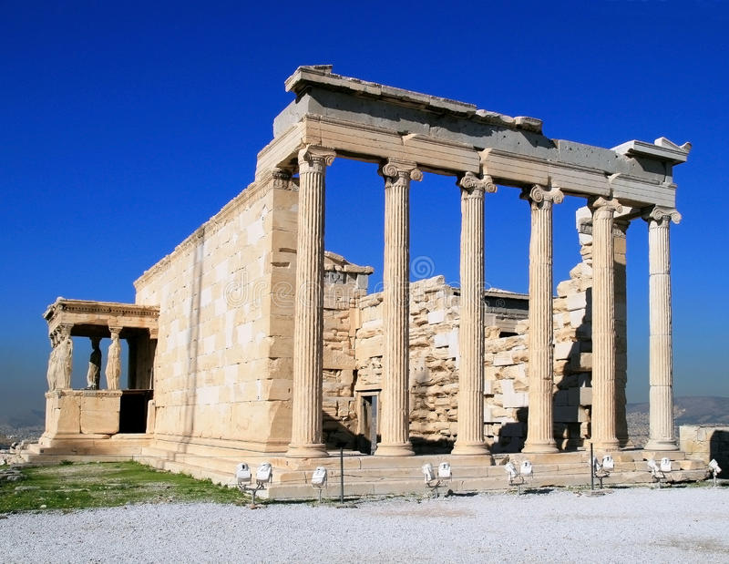 Temple Erechtheion (421-406 BC) stock photography