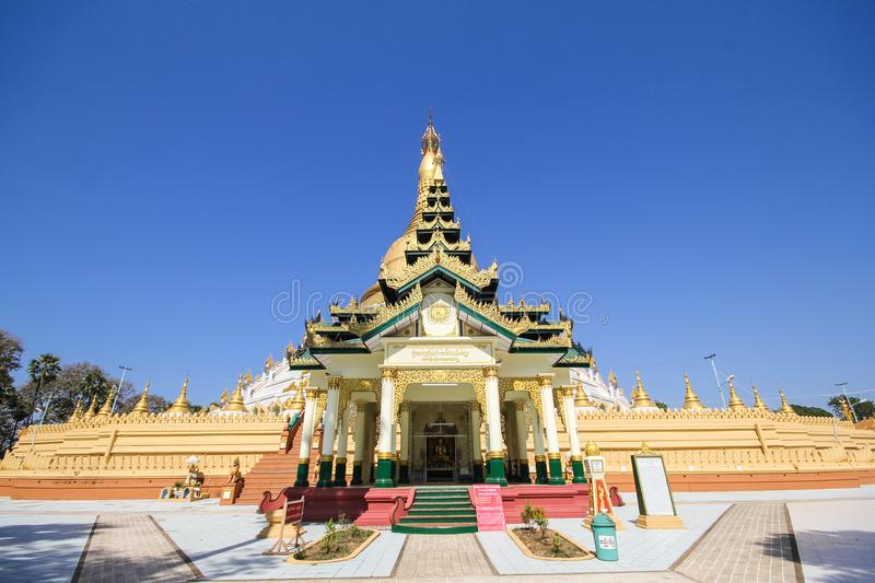 Temple et pagoda dans Bago, Myanmar photo stock