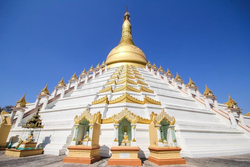Temple et pagoda dans Bago, Myanmar image libre de droits