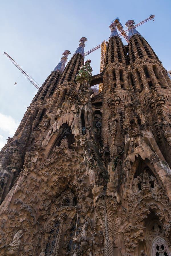 Temple Expiatori de la Sagrada Familia, Barcelona, Spain stock image