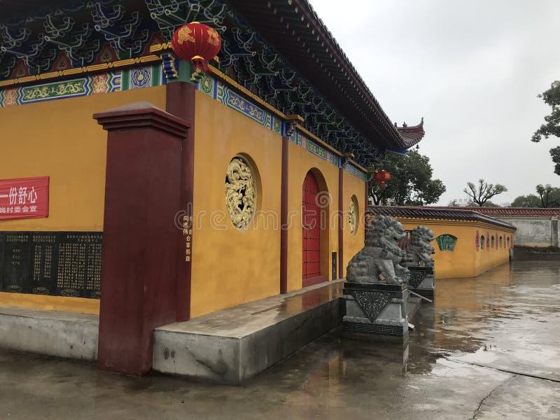 Temple extérieur décoratif de mur-Lianchi, Nan-Tchang photos libres de droits