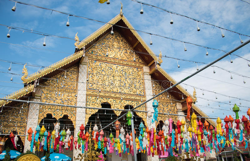Temple fair of Thailand stock photography