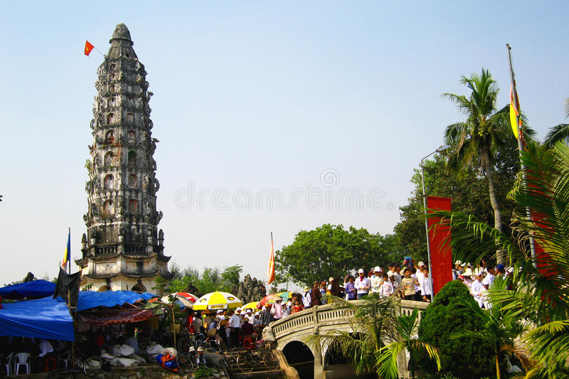 Temple on festival days stock photography