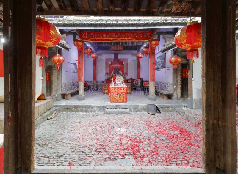 Temple folklorique de croyance à l'intérieur, adobe RVB images libres de droits