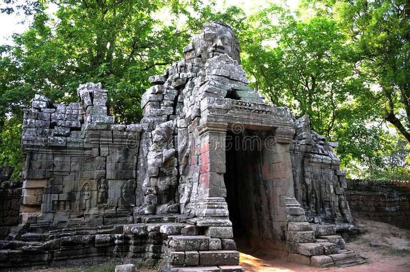 Temple in the forest ,Angkor Wat Cambodia. Old Temple in the forest ,Angkor Wat Cambodia royalty free stock photos