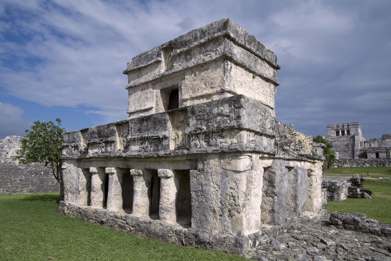 Temple Of The Frescos At Tulum Royalty Free Stock Images
