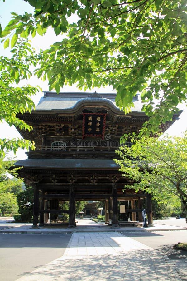Free Temple Gate Of Kencho Ji In Kamakura, Japan Stock Image - 92148581