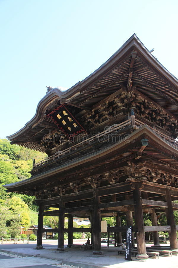 Free Temple Gate Of Kencho Ji In Kamakura, Japan Stock Photo - 92148600