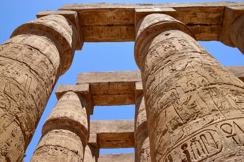 The temple of the god Amon Ra at Luxor royalty free stock photography