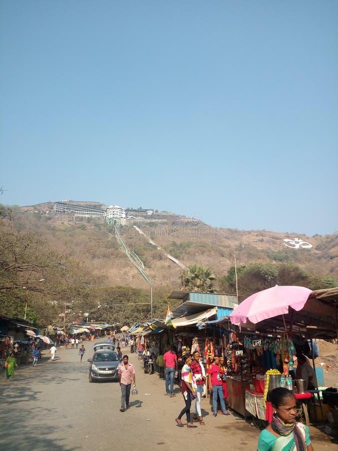 Goddess Jivdani at Virar District: Thane, Maharashtra India. Temple of Goddess Jivdani is situated on top of  a hill at Virar District: Thane, Maharashtra India stock images