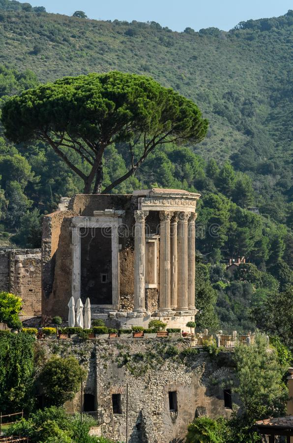 Temple of the Goddess Vesta in Tivoli, Italy royalty free stock images