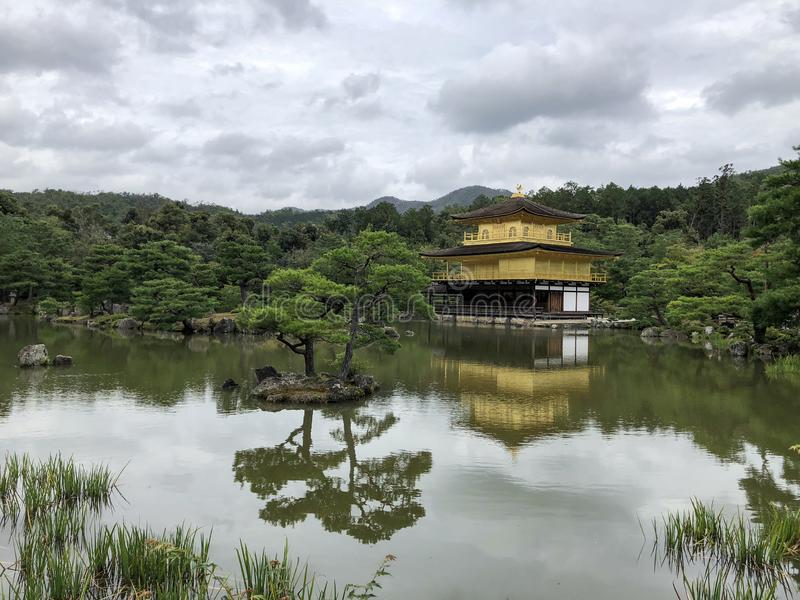 Temple of the Golden Pavilion in Kyoto Japan royalty free stock photography