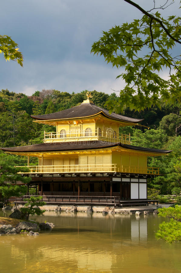 Download Temple Of The Golden Pavillion (Kinkakuji) In Kyot Stock Photo - Image: 16244432