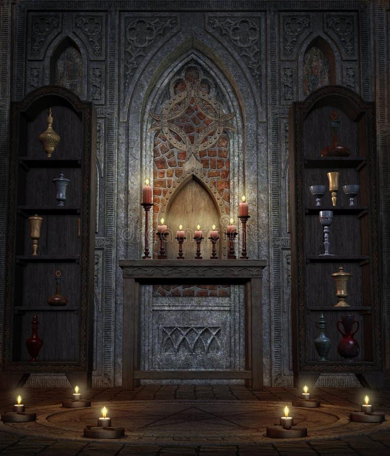 Temple gothique 4 illustration libre de droits