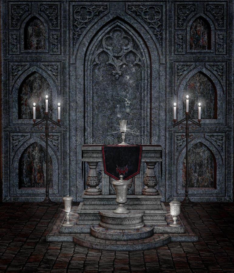 Temple gothique 5 illustration de vecteur