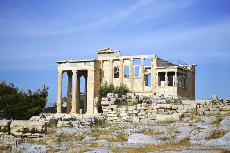 Temple Grèce d'Erechtheion photo stock