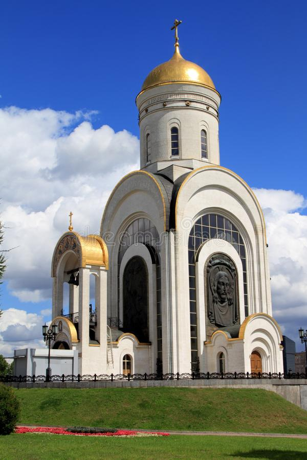 Temple of the Great Martyr George the Victorious on Poklonnaya H stock image