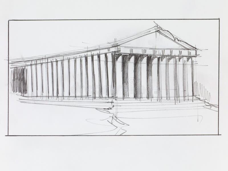 Temple grec de parthenon illustration libre de droits