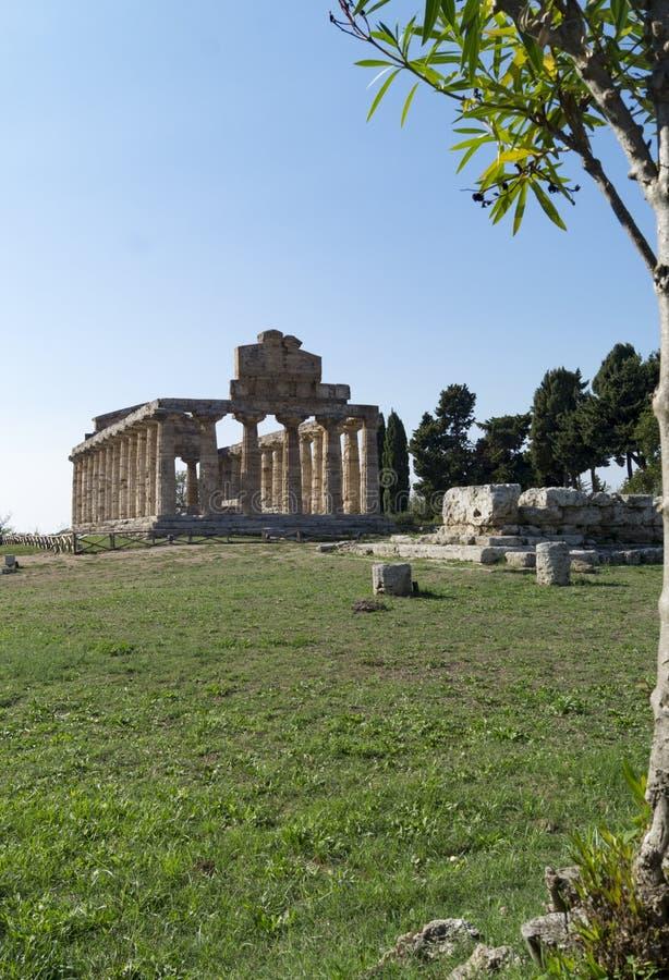 Temple grec Paestum photos stock
