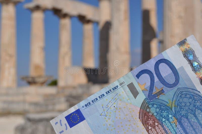 Crise économique grecque images stock