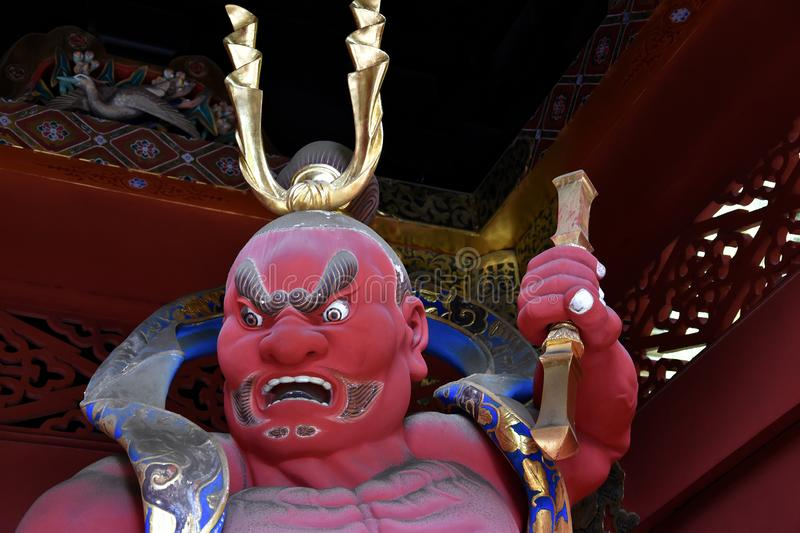 Temple guardian in buddhist temple royalty free stock photo