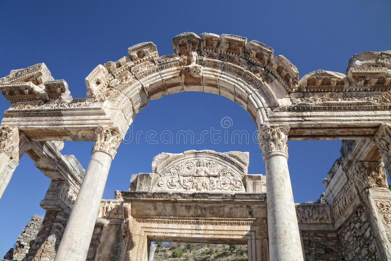 Download Temple of Hadrian stock photo. Image of ancient, detail - 20642062