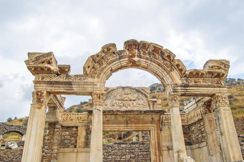 Download Temple of Hadrian editorial photography. Image of tourism - 37923662