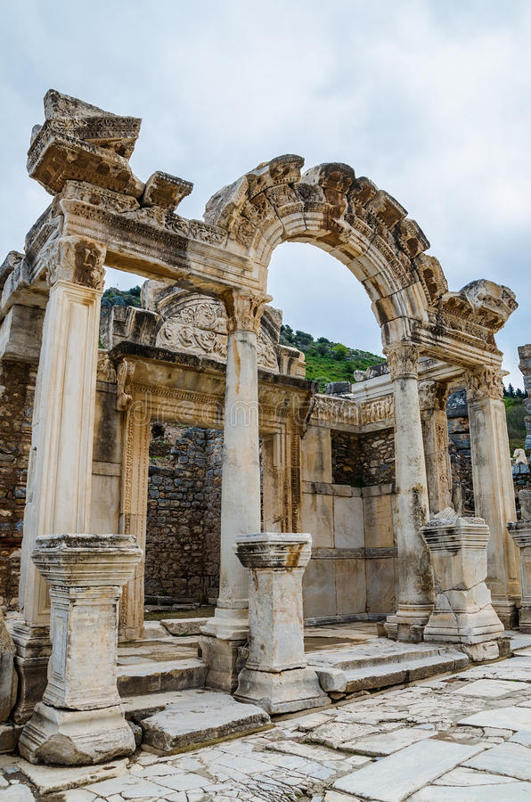 Download Temple of Hadrian, Ephesus stock photo. Image of architectural - 39816238