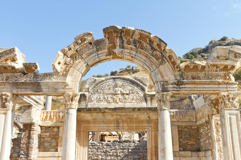 Download Temple of Hadrian stock image. Image of ephesus, architecture - 35095787