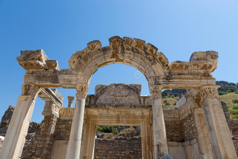 Temple Of Hadrian, Ephesus, Turkey Stock Photography