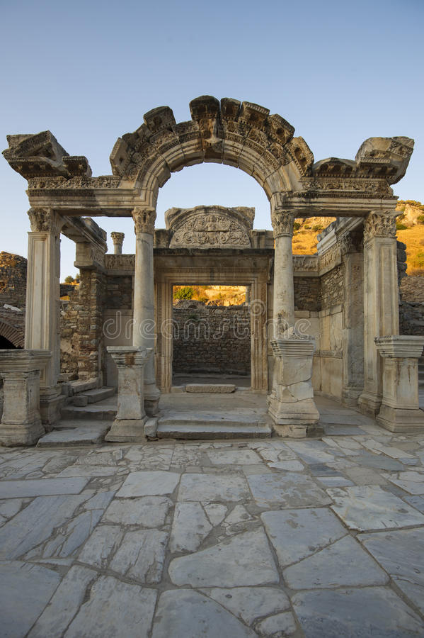 Temple of Hadrian in Ephesus, which was built around 138 AD