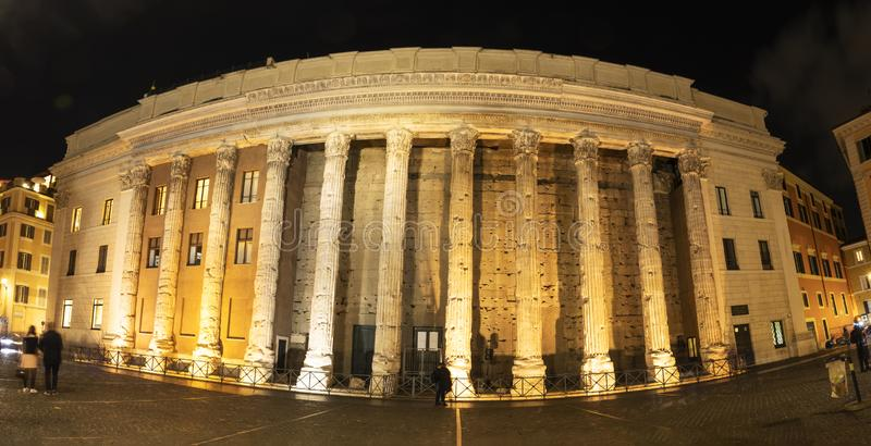 The Temple of Hadrian Templum Divus Hadrianus, also Hadrianeum royalty free stock photo