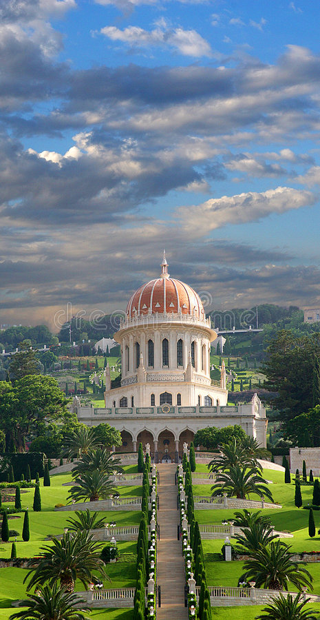Temple in Haifa royalty free stock images
