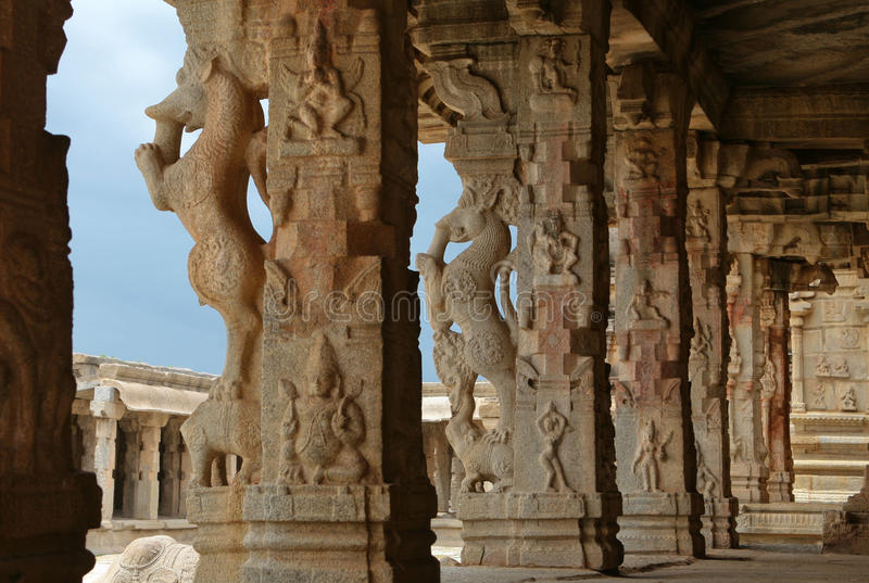 Temple in Hampi stock image