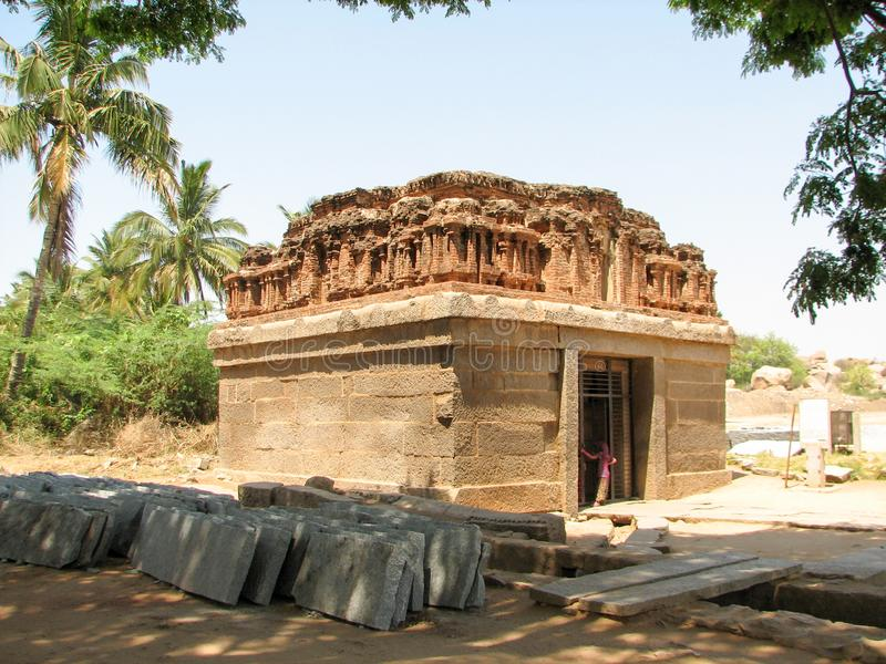 Temple in Hampi dedicated to Lord Shiva. royalty free stock photography