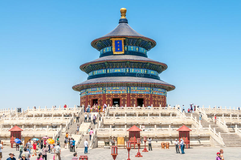 Download Temple of Heaven editorial stock image. Image of hiking - 34096544