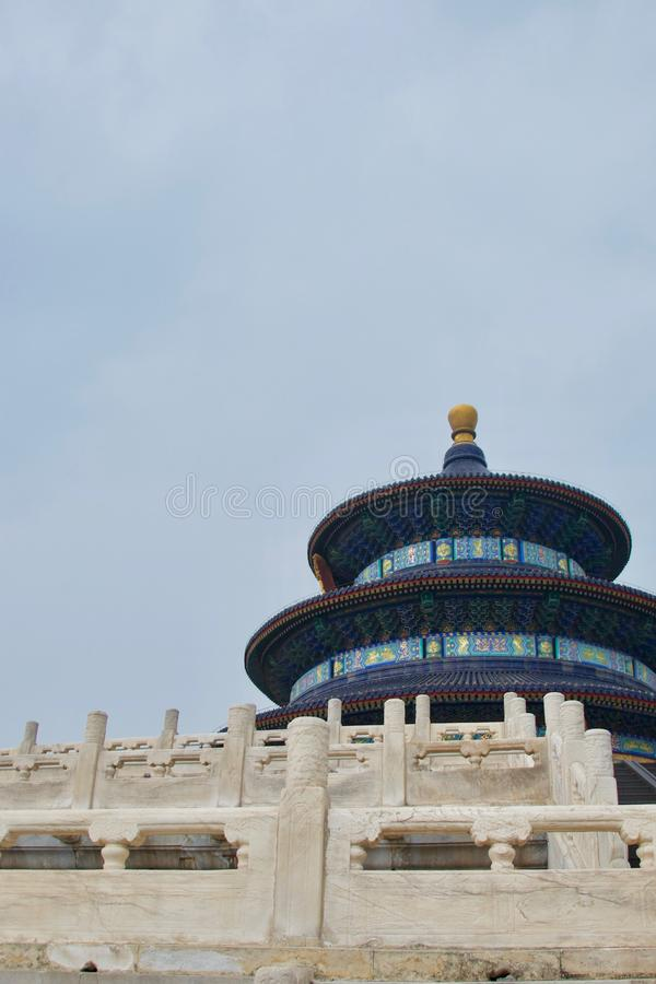 Temple of Heaven, Beijing, China - blue temple, white marble stock photos