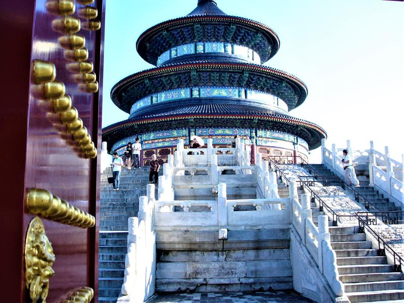 Temple of Heaven, Beijing, China. Tourism, art, architecture, beauty and history stock photo