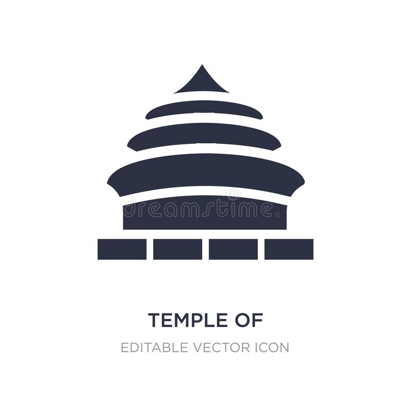 temple of heaven in beijing icon on white background. Simple element illustration from Monuments concept stock illustration