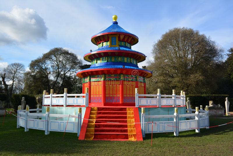 Temple of Heaven lantern. Magical lantern festival, Chiswick Gardens stock photography