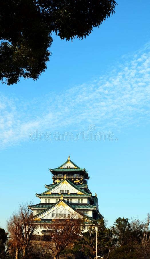 Osaka Castle ,Japan. stock photo