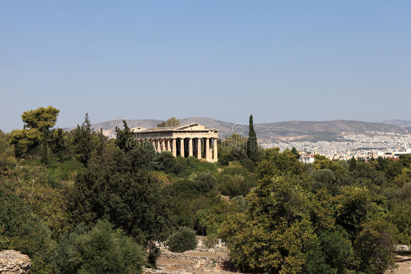 Download Temple of Hephaestus stock image. Image of green, monument - 28034441
