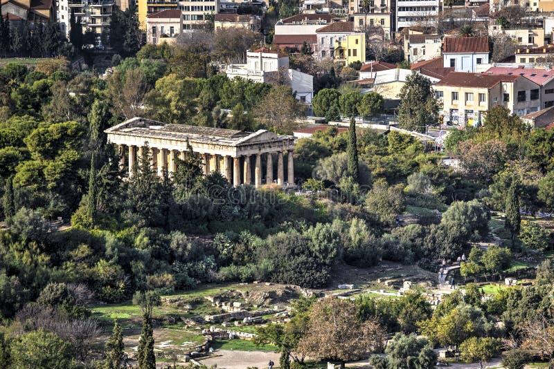 Temple of Hephaestus royalty free stock photos