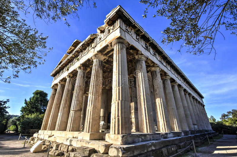 Temple of Hephaestus stock image