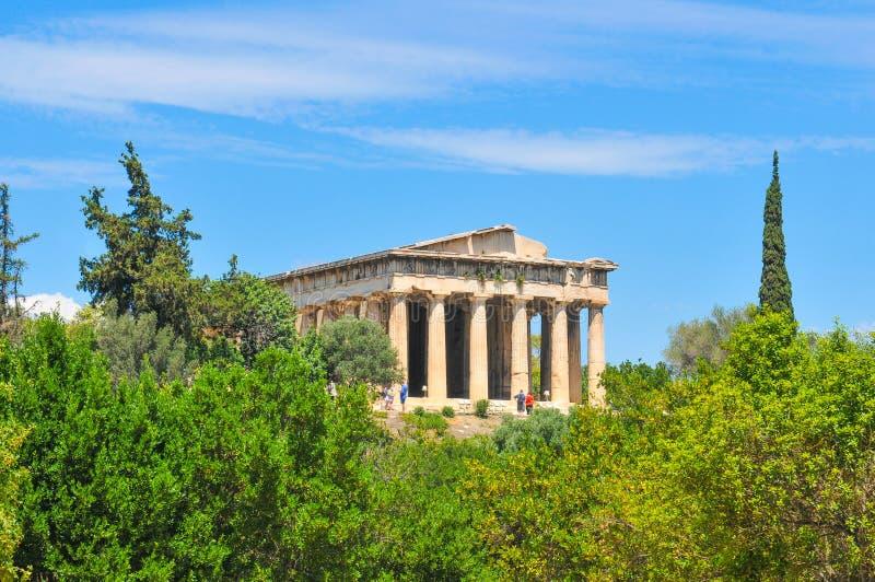 Temple of Hephaestus in Athens, Greece. Architecture of the temple of Hephaestus in Athens, Greece stock photo