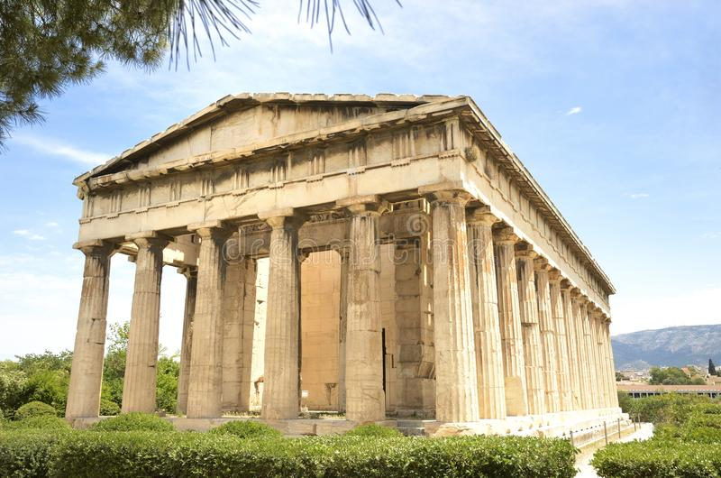 Download Temple of Hephaestus stock image. Image of acropolis - 33345591