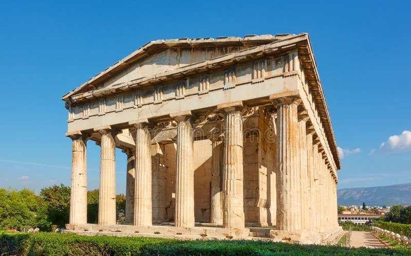 Temple of Hephaestus royalty free stock photography
